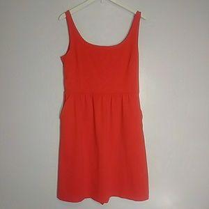 Cynthia rowley sz:l orange scoop neck dress